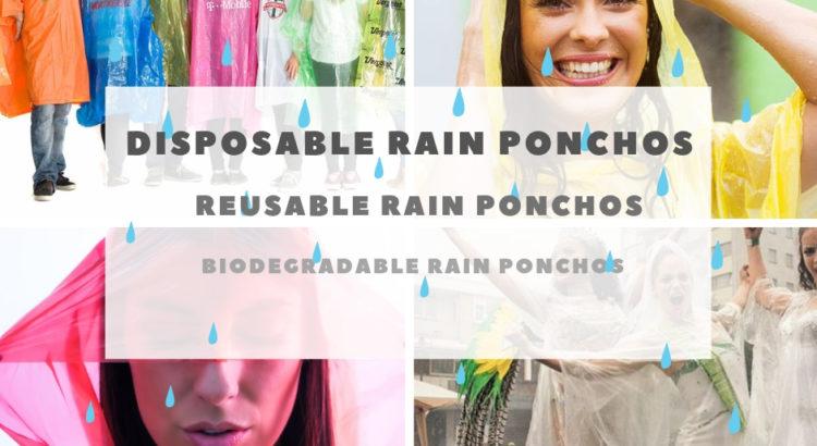 Logo printed rain poncho
