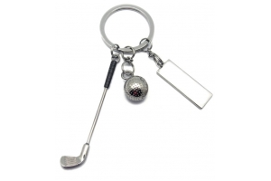 Golf Theme Keyring