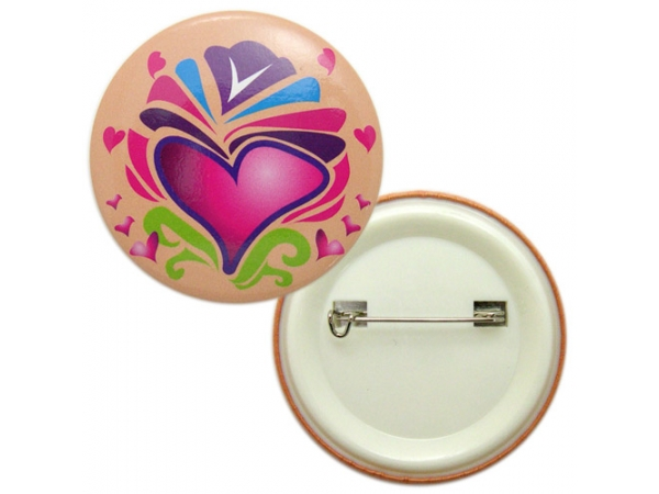 brightways round button badge with plastic base