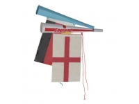 Trumpet with Flag Banner